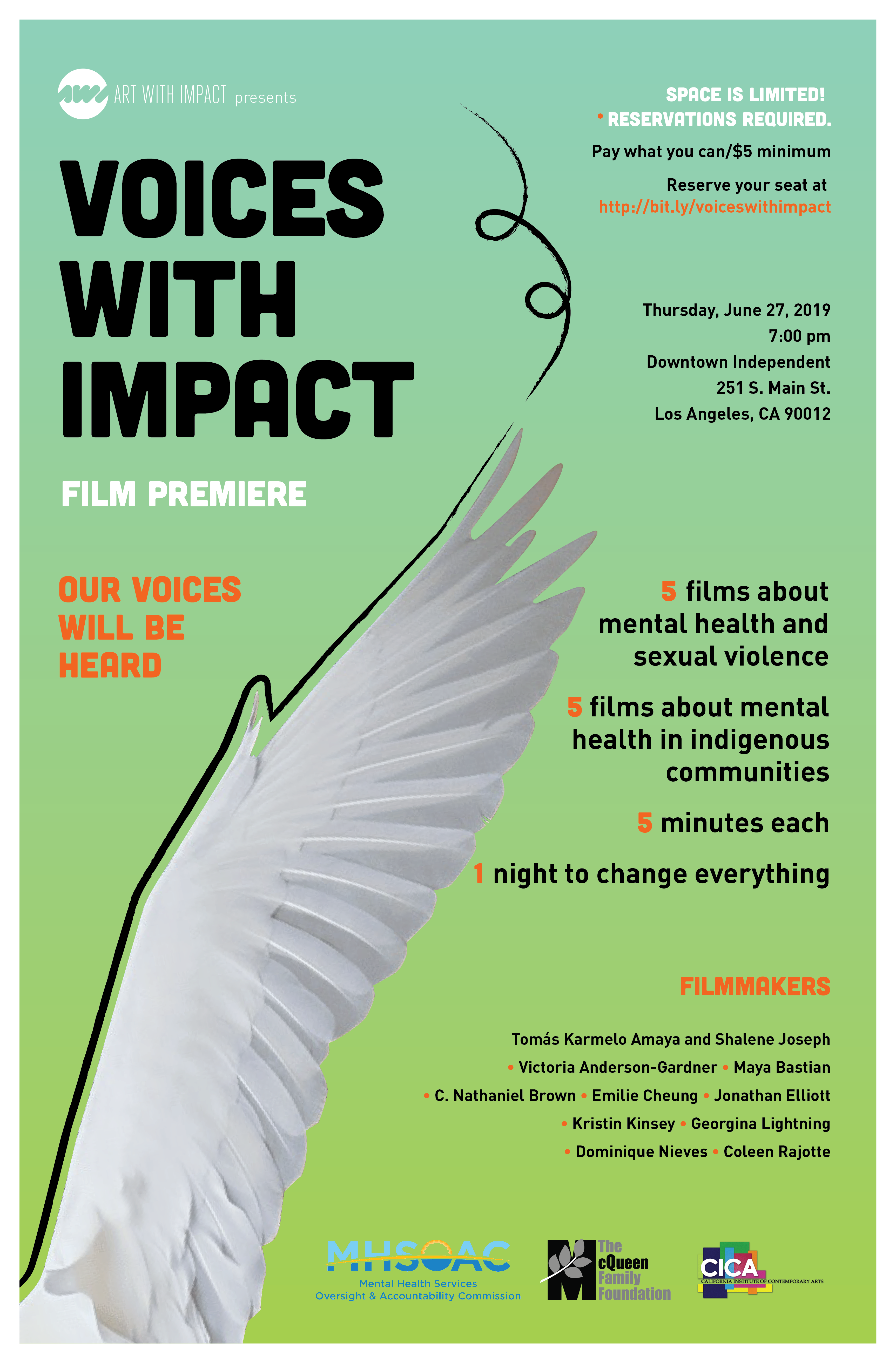 Voices With Impact Film Premiere - Art With Impact : Art With Impact